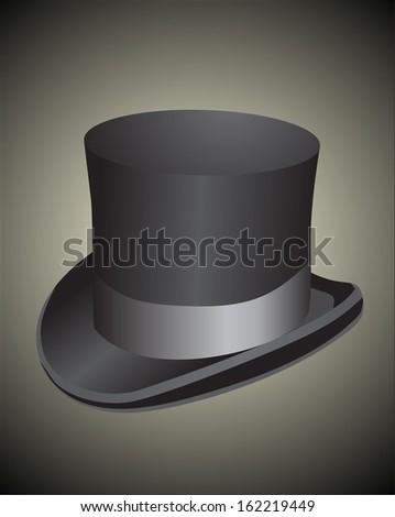 Black top hat - stock photo