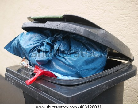 Black Trash - stock photo