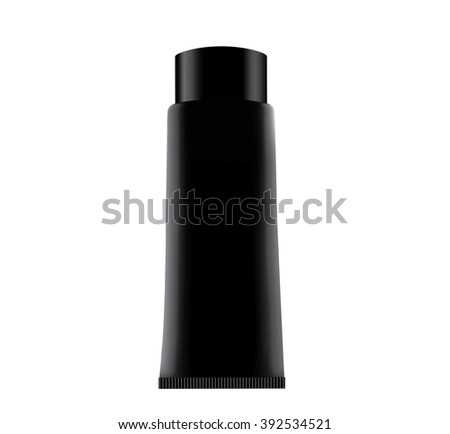 Black tube. Product mock up isolated on white background - stock photo