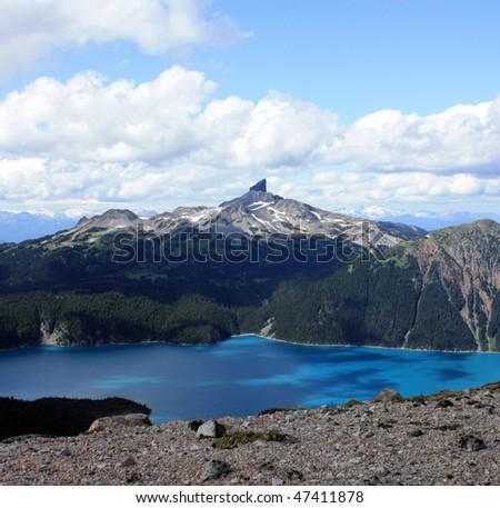 Black Tusk And Garibaldi Lake (Coast Mountains, BC, Canada) - stock photo