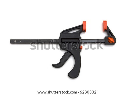 black vice on white background