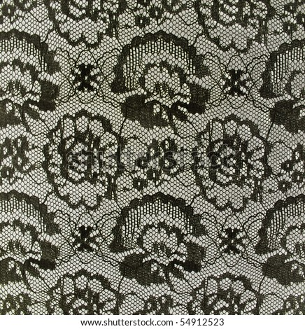 black vintage lace - stock photo