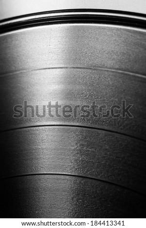 Black vinyl record close up - stock photo