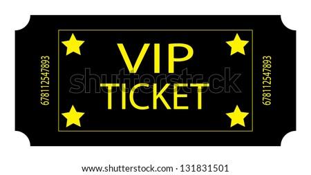 Black VIP Ticket - stock photo