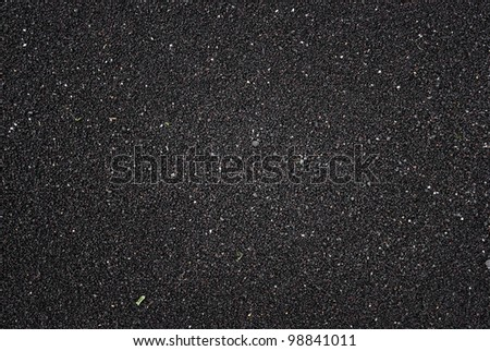 Black volcanic sand on beach in Iceland
