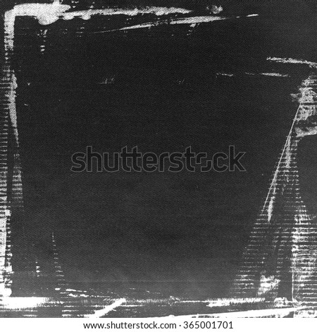 black wall paper texture grunge background old brush strokes white watercolor painting - stock photo