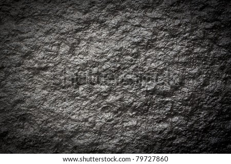 black wall stone background (See my portfolio for more) - stock photo