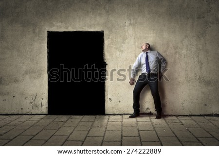 Black way out - stock photo