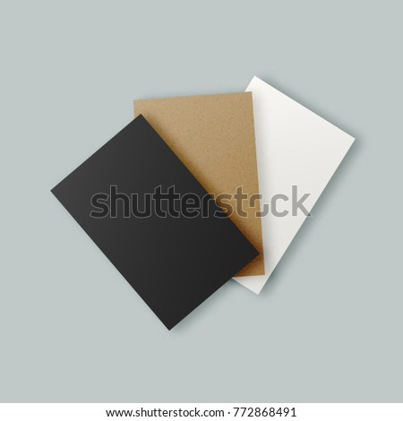 Black white brown kraft paper business stock illustration 772868491 black white and brown kraft paper business card templates set realistic clean hipster paper colourmoves
