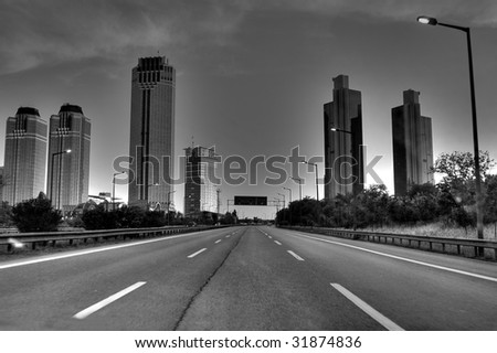 Black-White Building - stock photo