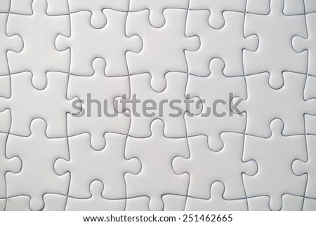 Black white jigsaw puzzle for background or textures - stock photo