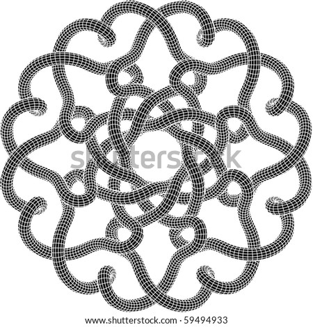Black & White Raster Knot Illustration