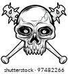 black white Skull head - stock