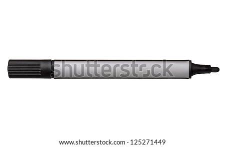 Black whiteboard marker isolated on white background - stock photo