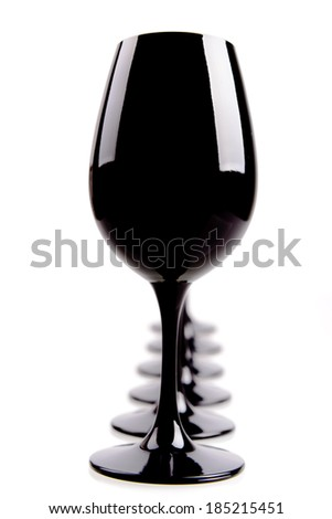 Black Wine Glasses For Blind Tasting Isolated On White
