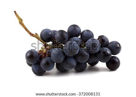 Black wine grape - stock photo