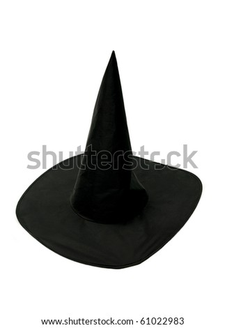 Black witch hat - stock photo