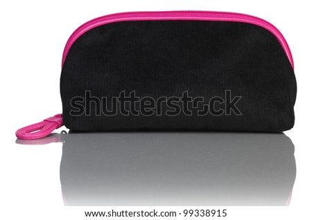 black with pink case - stock photo