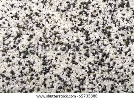 Black With White Natural Marble Chip Plaster Close Up Background