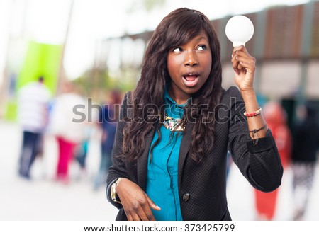 black woman having an idea