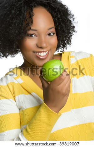 Black Woman Holding Apple