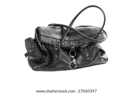 Black women bag isolated on white background