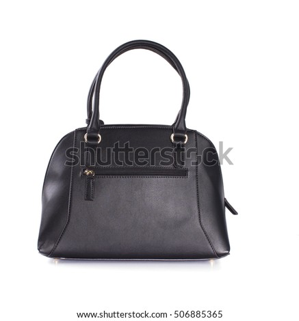 Black women bag isolated on white background.