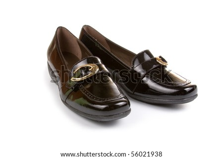 Black women shoes isolated on white background