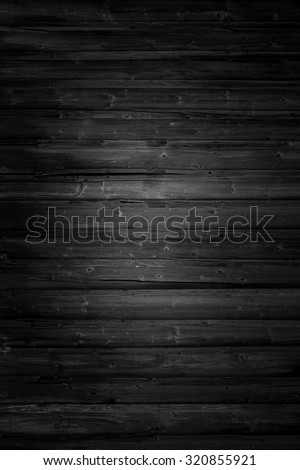 Black wood, background structure, vertical photo - stock photo