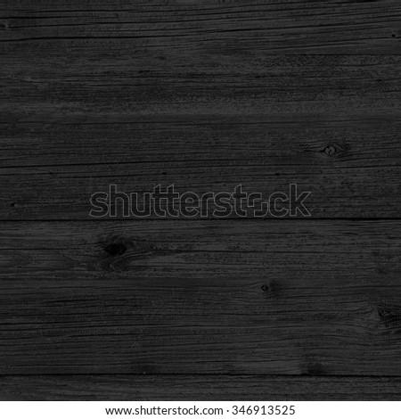 black wood background texture - stock photo