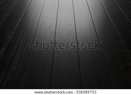 Black wood background with lighting from the window. 3d rendering. - stock photo