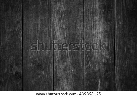 black wooden background or wood grain pattern texture
