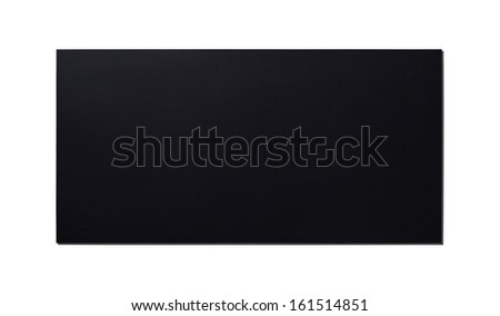 Black Wooden Panel isolated on white background