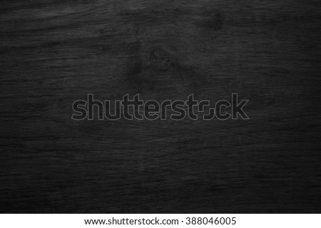 Black wooden texture background blank for design - stock photo