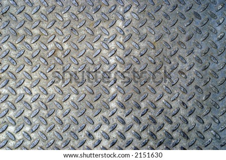 Black worn diamond plate - stock photo