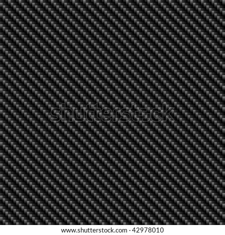 Black woven carbon fiber material that works great as a pattern.  This texture tiles seamlessly in any direction. - stock photo