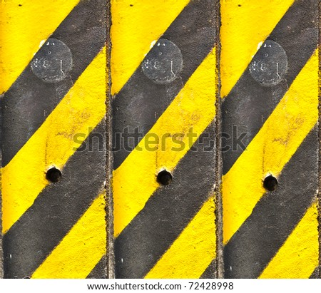 Black Yellow Line Texture for background - stock photo