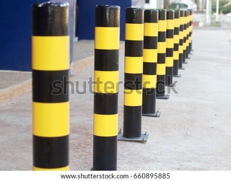 Safety Bollards Car Park Parking Stock Photo 230256937 Shutterstock