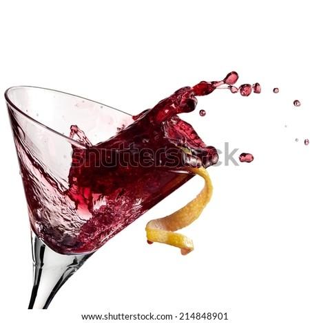 Blackberry cocktail plash - stock photo