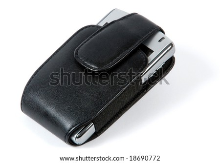 Blackberry phone - stock photo