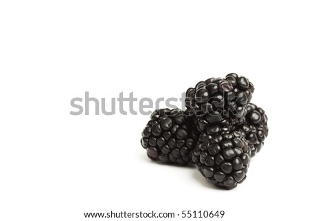 blackberry pile isolated - stock photo