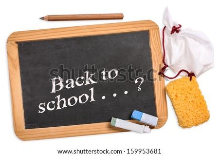 Blackboard, back to school - stock photo