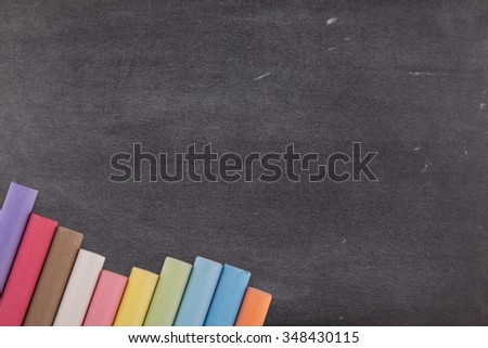 Blackboard background, chalkboard, color chalks