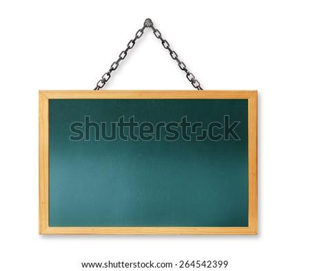 Blackboard ,Blank old blackboard - stock photo