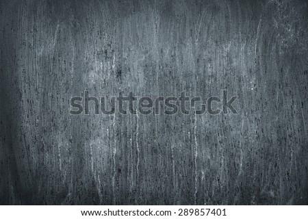 Blackboard. Chalkboard texture. Empty blank black chalkboard with chalk traces - stock photo