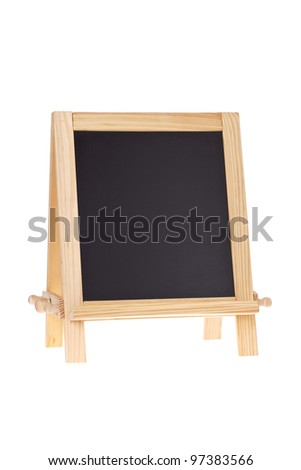 Blackboard easel isolated on white with copy space