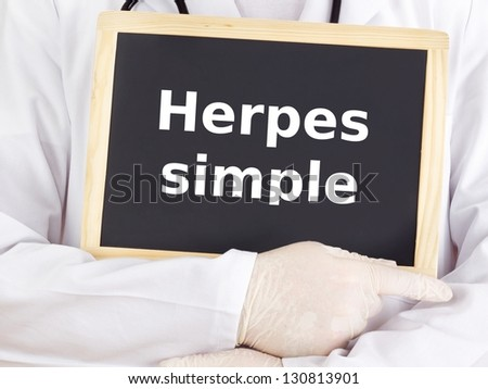Blackboard : Herpes simplex : Spanish language