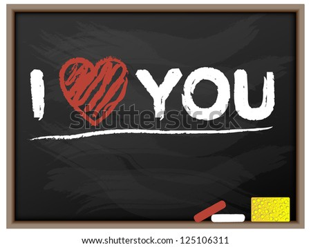 BLACKBOARD I LOVE YOU VALENTINE