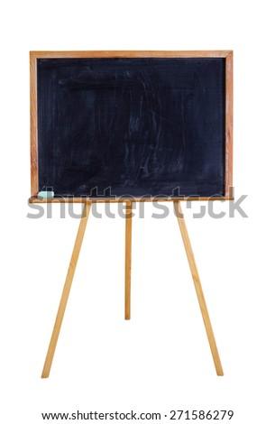 blackboard  isolated on white - stock photo