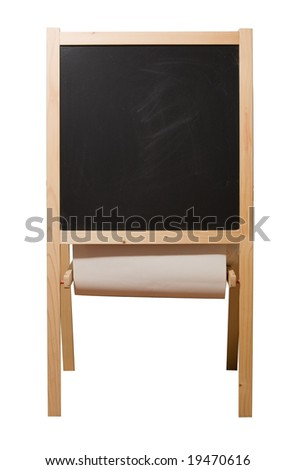 Blackboard isolated on white with clipping path